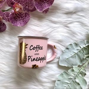 Other - Coffee and Pineapple Pink Gold Mug